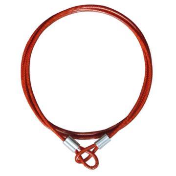 都克 双孔缆锁,缆绳长2m