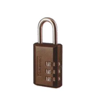 玛斯特锁MasterLock 5mm锌锁钩,24mm锁钩净高,30mm宽,3位数字可重设密码锁,647MCND