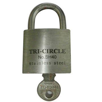 不锈钢挂锁-不锈钢锁体,锁体45×48×20mm,锁梁Φ8mm,总高81mm,14763