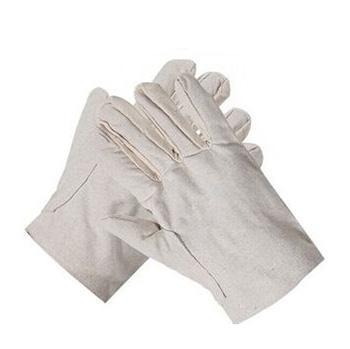 西域推荐 帆布手套,2*2帆布手套 虎口加皮,10副/包