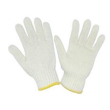 西域推荐 纱线手套,500g白兔全棉细纱线手套