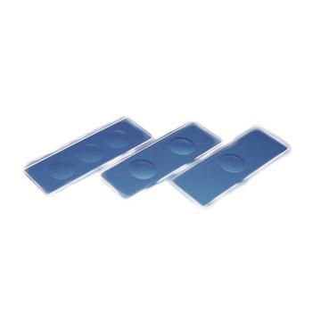 BRAND凹圆载玻片,白色,磨砂边缘,含有3个凹穴,50个/包