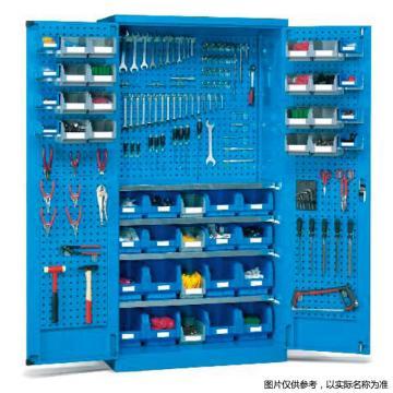 锐德 挂板门型置物柜,1000W*600D*1800H,配EHT001盒子24个,ETT005红色盒子9个,KG1801挂钩30个,KG1302挂钩30个,KG1202挂钩30个