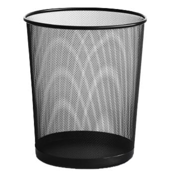 得力垃圾桶,黑色大号金属网状,9189