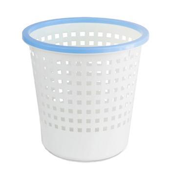 得力垃圾桶,双色圆形塑料,9554