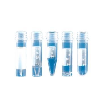 BRAND微量储存管,含显启旋盖,PP材质,1.5ml,圆底,灭菌,有刻度,500个/箱