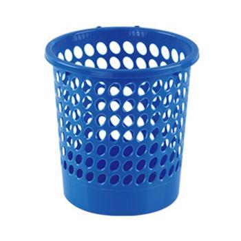 齐心COMIX圆形经济型纸篓,L201,24cm 蓝