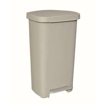 塑料垃圾桶,脚踏垃圾桶,50L,浅灰