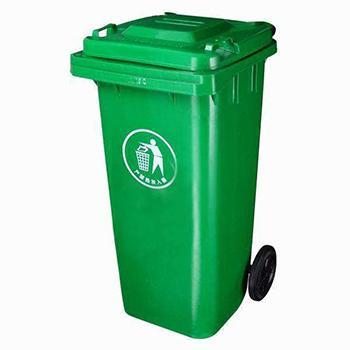 移动垃圾桶,120L 绿色