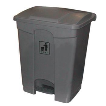塑料垃圾桶,脚踏垃圾桶,70L,浅灰
