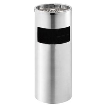不锈钢烟灰垃圾桶,10L,拉丝面,201标号不锈钢