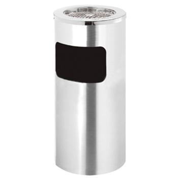 不锈钢烟灰垃圾桶,16L,拉丝面,201标号不锈钢