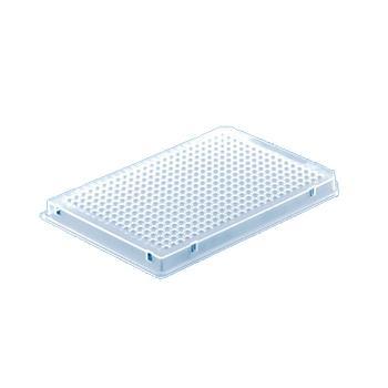 BRAND384孔PCR板,含半裙边,PP材质,白色,0.03ml,用于qPCR,50个/包