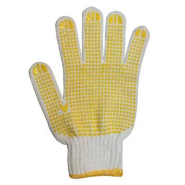 西域推薦 點塑手套,650g回棉點塑手套,12副/打
