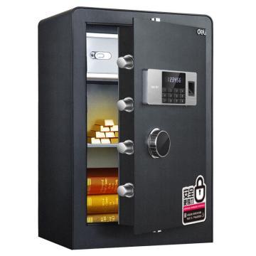 得力 指纹密码保管箱(黑色),H600xW380xD360mm 4106