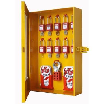 都克 十锁锁具挂板(带门,含配件),320*100*500mm,四点壁挂,内置10个挂锁钩,和2个吊牌盒及1个搭扣挂钩,S51A