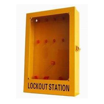 都克 十锁锁具挂板(带门,空板),320*100*500mm,四点壁挂,内置10个挂锁钩,和2个吊牌盒及1个搭扣挂钩,S52A