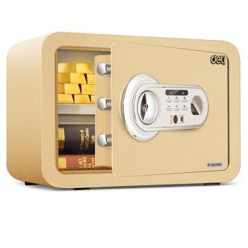 得力 指纹密码保管箱(金色) ,H250xW350xD250mm 33473
