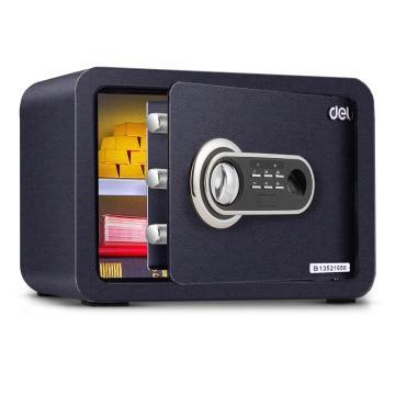 得力 指纹密码保管箱(黑色), H250xW350xD250mm 33473