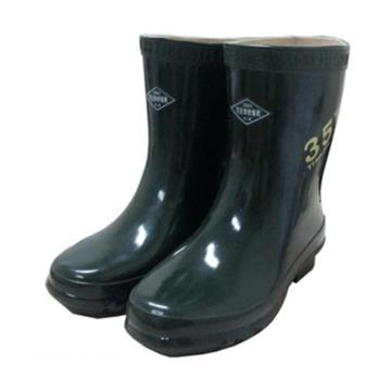 雙安 絕緣靴,電絕緣防滑 35KV 墨綠色 38