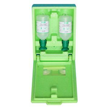 Plum 洗眼液套装-2瓶16盎司/500ml弱酸弱碱颗粒物粉尘洗眼液+防尘防静电箱,4600
