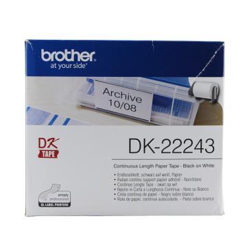 兄弟 DK色带,102mm*30.48m白底/黑字(纸质) 单位:盒