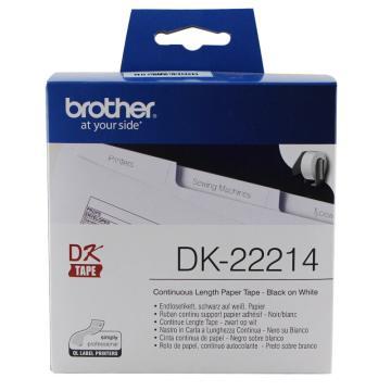 兄弟 DK色带,12mm*30.48m白底/黑字(纸质) 单位:盒
