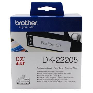 兄弟 DK色带,62mm*30.48m白底/黑字(纸质) 单位:盒