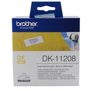 兄弟 DK色帶,38mm*90mm白底/黑字(紙質400張) 單位:盒
