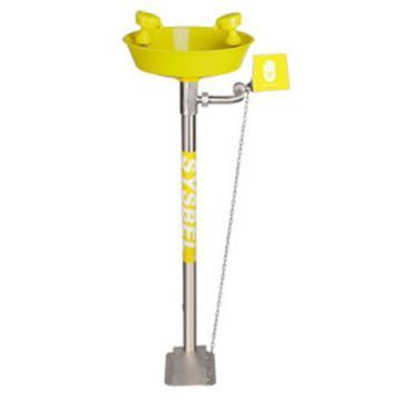 西斯贝尔SYSBEL 立式洗眼器,AES水盆,有脚踏装置,WG7033FY