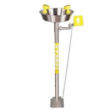 西斯贝尔SYSBEL 立式洗眼器,不锈钢水盆,有脚踏装置,WG7033F