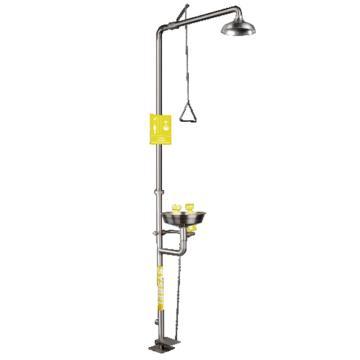 西斯贝尔SYSBEL 不锈钢复合式洗眼器,304SS水盆,有脚踏装置,WG7053F