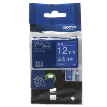 兄弟色带,蓝底/白字,12mm TZE-535( 后期型号升级为TZE-Z535,产品不变)
