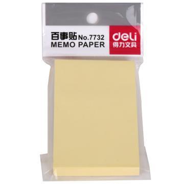 得力 百事贴,(淡黄)51*76mm 7732(包)