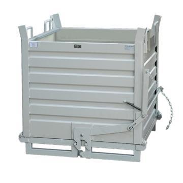 銳德 帶叉車孔鐵屑箱,額定載重(kg):1000 產品尺寸(mm):1000L*800W*800H 灰白色,TXC06