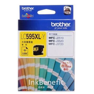 兄弟(brother) 彩色墨盒,LC595XL-Y黃色適用MFC-J2510/MFC-J3520/MFC-J3720 單位:個
