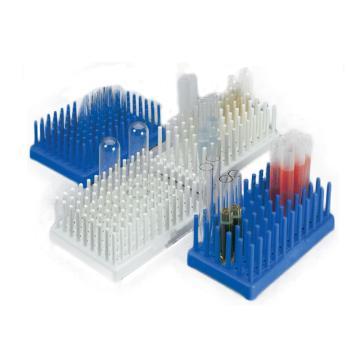 NALGENE桩式试管架,填充聚丙烯,试管大小14-17,蓝色
