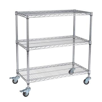 三威 不锈钢网层手推车,无扶手,承重250kg,1500*600*1600,三层