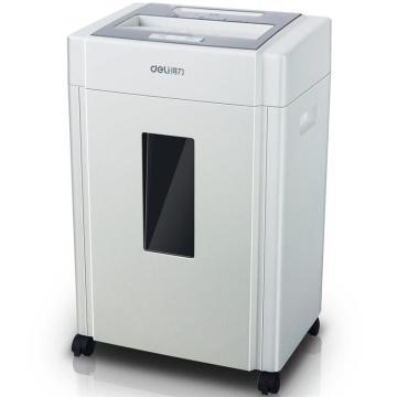 得力(deli) 9904碎纸机 亚克力面板碎光盘20升大容量 白色