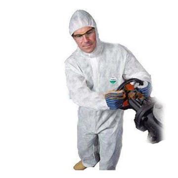 雷克兰 PPP428WE-XXL 聚服佳白色防化服,40件/箱