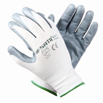 世达SATA 丁腈涂层手套,FS0402,丁腈涂层耐油手套 掌浸