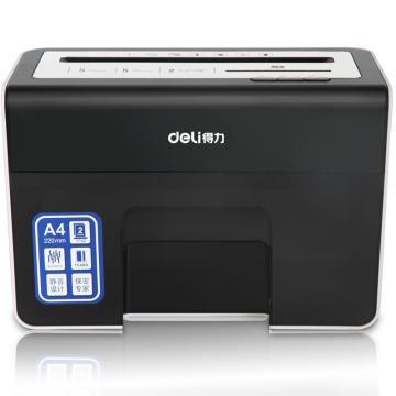 得力(deli)德国4级保密高档桌面碎纸机, 多功能个人办公/家用小型碎纸机9936(A4) 单位:台