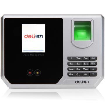 得力(deli) 指紋加人臉識別考勤機, 混合識別打卡機 真人語音/免軟件安裝 3959 單位:臺
