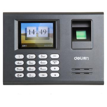 得力 指紋考勤機,3946指紋式打卡機1800枚真人發音(黑)(臺) 單位:臺