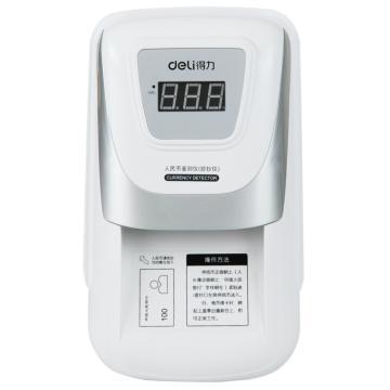 得力(deli) 便携式小型验钞机,双电源精准验钞仪 语音提示(银色)(台) 3929 单位:台