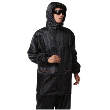西域推荐,户外骑行雨衣 分体式 黑色 XXXL均码