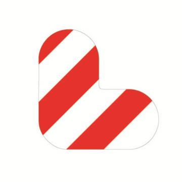 安赛瑞 5S管理地贴-L型,红/白,100×100mm,15812,10个/包