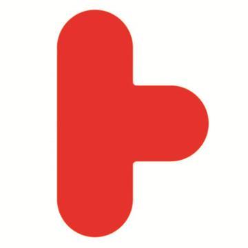 安赛瑞 5S管理地贴-T型,红色,100×150mm,15787,10个/包