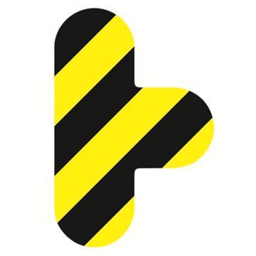 安赛瑞 5S管理地贴-T型,黄/黑,100×150mm,15805,10个/包