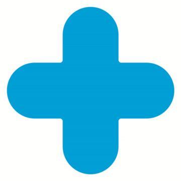 安赛瑞 5S管理地贴-十型,蓝色,150×150mm,15792,10个/包